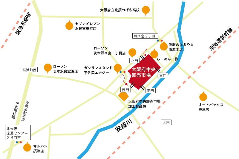 市場周辺地図